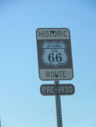 Hov - pludselig var vi på Route 66 - dog kun et kort øjeblik