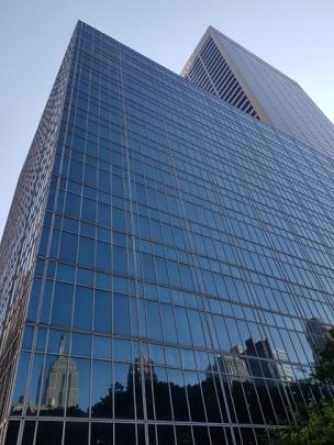 Empire State spejlet i bygning
